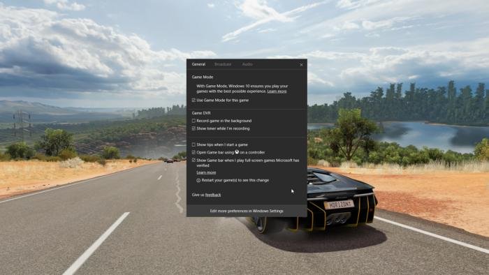windows 10 come attivare game mode