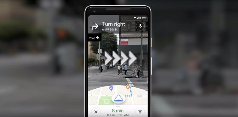 Google Maps augmented reality realtà aumentata